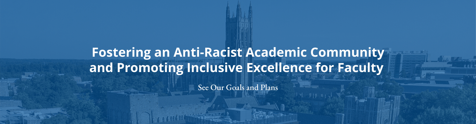 Fostering an Anti-Racist Academic Community and Promoting Inclusive Excellence for Faculty; see our plan