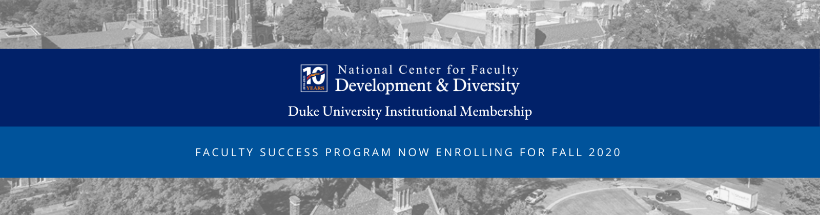 NCFDD Faculty Success Program now enrolling.